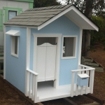 Blue Cubby House - Country Style Cubby House