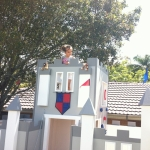 Timber Castle Cubby House