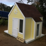 Cute Yellow Cubby House