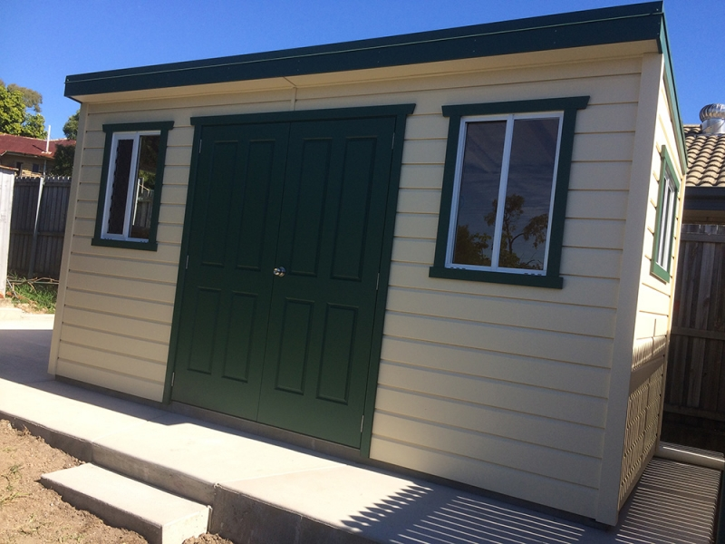 garden shed with windows and double doors - Garden Sheds With Windows