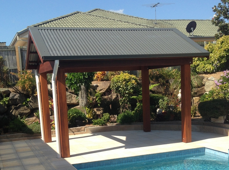 Timber Gazebo With Gable Roof Kwila Gazebo West Lake