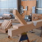 Log Home Building Joinery in Canadian Workshop