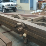 Timber Frame Joinery in Workshop in Brisbane