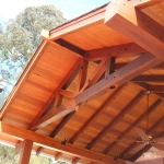 Timber Frame Entertainment Area In Brookfield