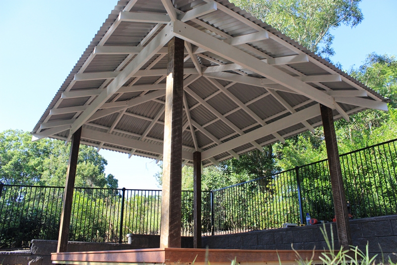 Hardwood and Pine Gazebo with Colorbond Roof