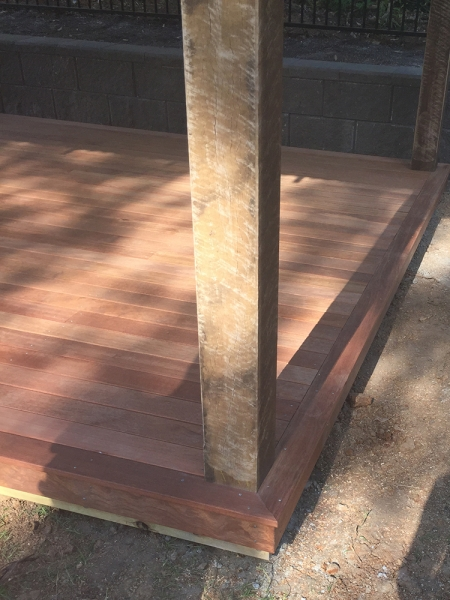 Kwila Decking with Set in Posts