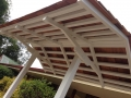 Cedar Roof with White Battons