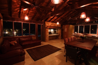 Timber Frame Entertainment Area