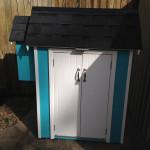 Teal Cabinet Garden Shed