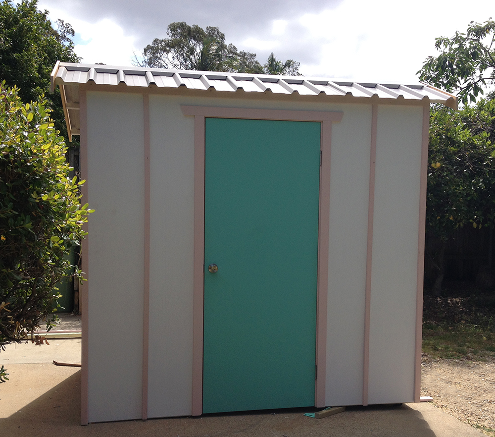 Timber garden shed unpainted made to order for Garden shed brisbane
