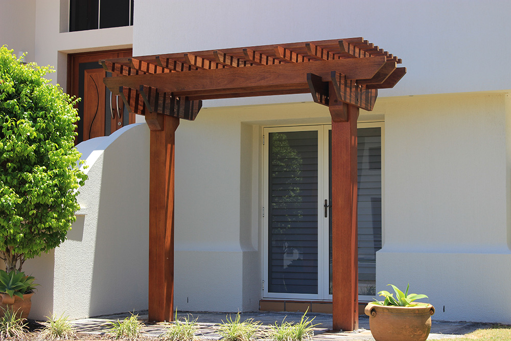 Two Post Kwila Pergola Timber Merbau Gazebo