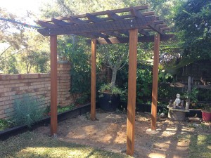 Distressed Hardwood Pergola, Pergola Brisbane