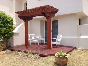 Two Post Kwila Hardwood Pergola, Pergola Brisbane