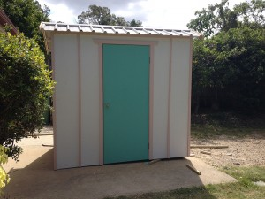 Unpainted Garden Shed