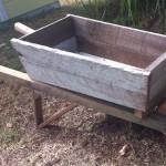 Small Timber Wheelbarrow Planter